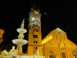 Messina duomo at night
